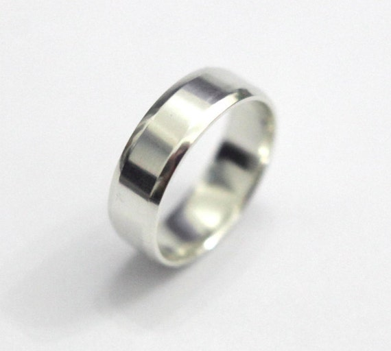 sterling silver ring band simple silver ring by