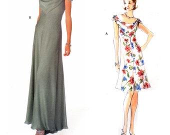 90's Vogue Designer Original 2108 Bellville Sassoon Evening/Formal/Bridal Dress in Two Lengths, Uncut, F/Folded, Sewing Pattern Size 12-16