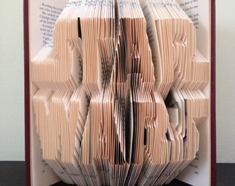 STAR WARS Logo - Book Folding Pattern. DIY gift for book art. Template with step by step instructions. Very easy, no measuring required