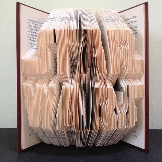 Star Wars Logo Book Folding Pattern Diy Gift For Book Art