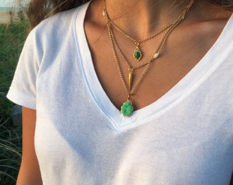 Sunset godess layered necklace