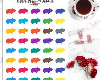 Guinea Pig Hamster Icon Planner Stickers (I-050)