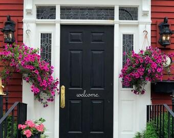 Welcome Door Vinyl Decal - Welcome Front Door Sticker - Welcome Door Decal - Welcome Sticker - Vinyl Door Decor