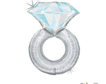 Diamond Engagement Ring Balloon - 38 Inches - Diamond Ring Balloon, Bachelorette Party, Bridal Shower, Bridal Photo Shoot
