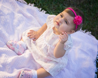 Crawler All-in-One Dress PDF Pattern (size 6-12 months)