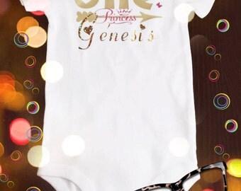 Birthday onesie, one, first birthday, princess, First.Birthday Onesie, Girl Birthday 1st Birthday Shirt, Second Birthday, pink, gold