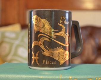 Fire King Pisces Zodiac Mug