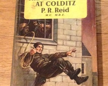 The Latter Days At Colditz by P.R.Reid 1955. Vintage WWII Military Pan Books In Acceptable Condition..