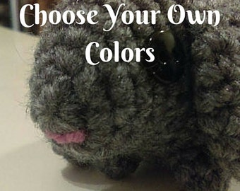 Custom Crochet Bunny - Choose Your Own Colors