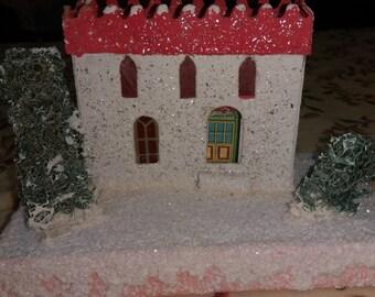 Putz Vintage Christmas cottage