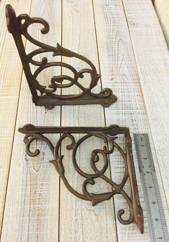 Iron Brackets Shelf Brackets Rustic Supports Display by