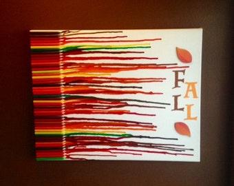 Fall Crayon Canvas