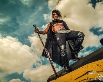"""Post-Apocalyptic Steampunk Dystopia """"The Hawk's Gaze"""" Limited Signed Photo Print"""