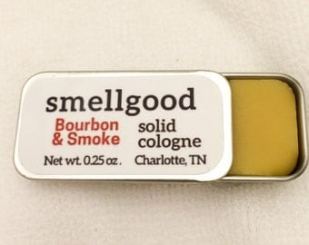 Smellgood Solid Cologne - Beeswax, Jojoba Oil, and Fragrance Oils in a Portable Sliding Tin - Made by Hand with Natural Beeswax at Our Farm