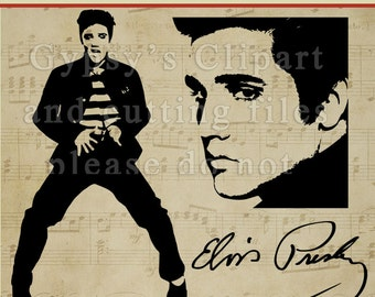 Elvis SVG, Elvis Presley SVG, Elvis Wall Vinyl,  Girls Room, Invitation, Silhouette, Clipart, Vector, Cutting file, SVG, Clip Art,Overlay