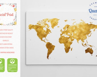 Kitchen world map of spices canvas print free shipping sale gold world map canvas print free shipping 20x14 home decor gumiabroncs Image collections