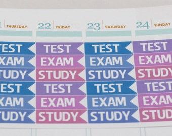 SALE! School Stickers for Erin Condren, Study Planner Stickers, Test Planner Stickers, Exam Planner Stickers