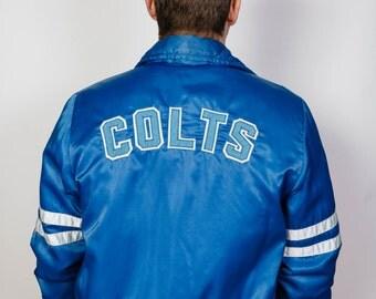 Vintage 'Colts' NFL Satin Bomber Jacket
