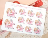 Kawaii Girl Lazy Day, Chill out, Nap on the Couch ~Valerie~ For your Life Planner, Diary, Journal, Scrapbook...