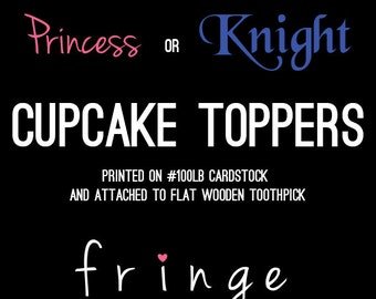 Princess/Knight Cupcake Toppers-Print Package