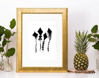 Minimal Kite Art Print
