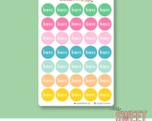 Barre Planner Stickers | FLAMINGO PUNCH