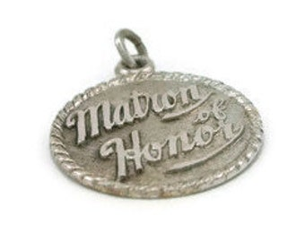 Matron of Honor Charm Vintage Silver