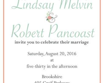 Wedding Invite_ Simple Flower