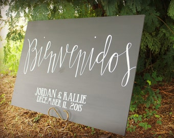 FREE SHIPPING Wedding Chalkboard Sign, Welcome wedding sign, wedding chalkboard, chalk art, chalkboard,wedding decor, wedding sign, chalk