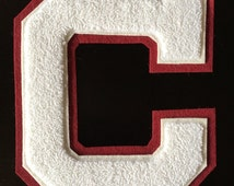 Unique letter jacket patch related items etsy for Varsity letter applique
