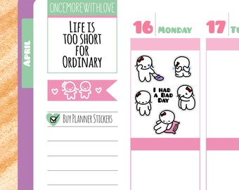 Munchkins - I Had A Bad Day Sad Munchkin Planner Stickers (M64)