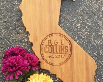 California Cutting Board,State,Cutting Board,Personalized Cutting Board,Shower Gift,Wedding Gift,Anniversary Gifts,Housewarming Gift