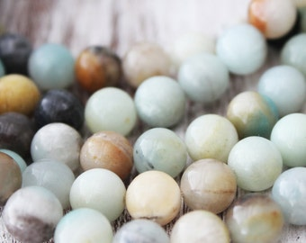 Rainbow Amazonite A Quality Round Beads 8mm Full Strand natural gemstone