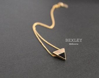 Gold Triangle Two Tone pendant