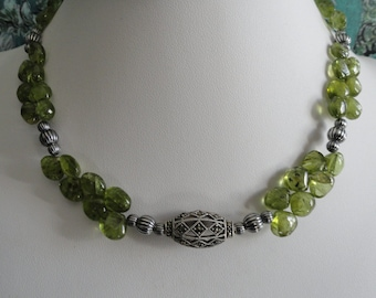Peridot necklace and earring set  -   #468