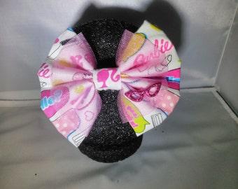 Barbie inspired hair bow