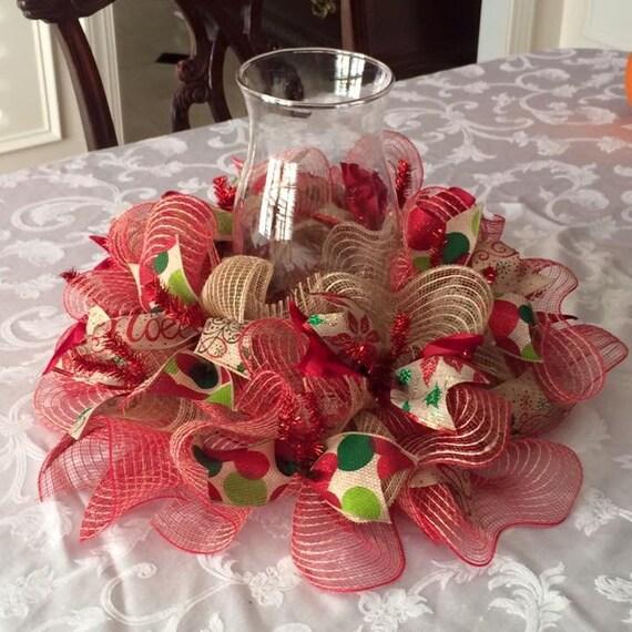 Items similar to christmas deco mesh and ribbon