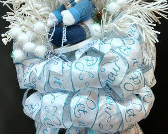 CHRISTMAS TREE TOPPER  - Tree Topper - Snowman - Snowman Tree Topper - Christmas Decor - White Tree Topper