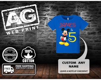 Mickey Mouse Birthday Shirt