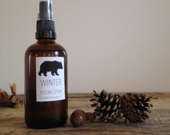 Winter Natural Essential Oil Room Spray