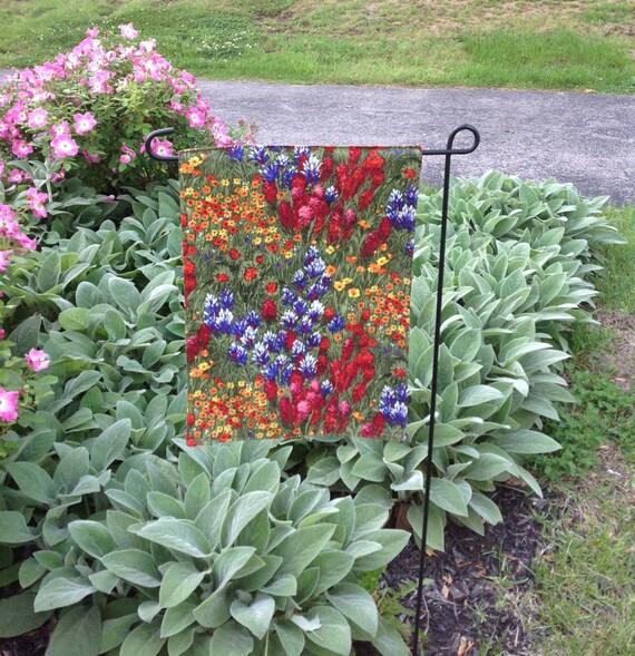 Butterfly Garden Bee Garden Floral Flags by