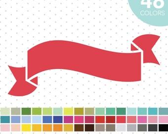 48 Banner Ribbon Clipart, Banner Ribbon Clip Art, PNG & JPEG Banner Ribbon, Digital Banner Ribbon, Banner Scrapbooking, Digiscrapping, CL-16