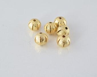 8mm Gold Filled Diamond Cut Round Ball Bead GF3333 18KGF
