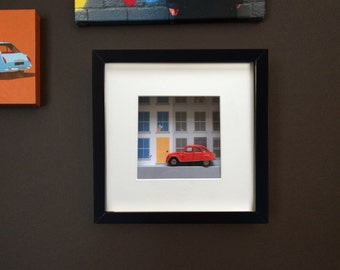 Handmade Old toy car 2CV picture, Wall Art, Childs room