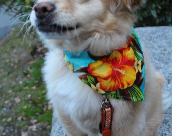 SALE! Hawaiian print dog bandana