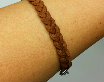 Braided Suede Bracelet- Bohemian- Hippie Chic- Boho- Braid- Stackable- adjustable