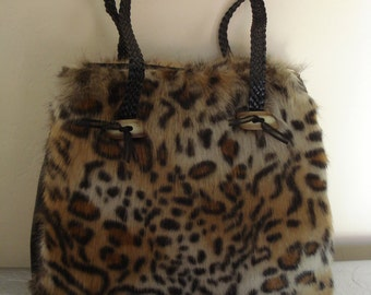 Leopard faux leather bag