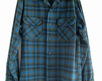 1960 / 1961 Pendleton plaid wool shirt