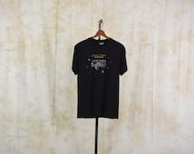 Star Trek Shirt VOYAGER Graphic Tee Shirt Starship Vintage Tshirt Oregon State Lottery Nerd Geek Retro T Shirt 90s Black 1990s Medium