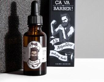 Oil for beard - odourless - handmade in Lyon - gift idea for man with beard
